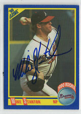 Mike Stanton 1990 Score signed auto autographed card Atlanta Braves