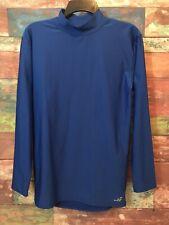 BCG Men's Royal Blue Long Sleeve Mock Neck Compression Activewear Shirt Size L *