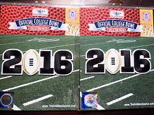 deux (2) blanc 2016 CFP CHAMPIONNAT patchs comme porté par National Alabama