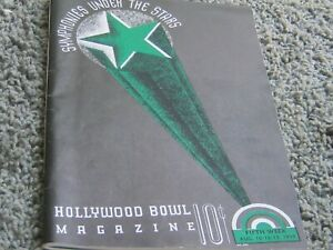 HOLLYWOOD BOWL MAGAZINE. 5th Week Aug., 1937. Hans Kindler, Lily Pons. Lert