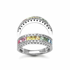 White Sapphire Eternity Fine Diamond Rings
