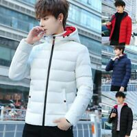 Men's Padded Bubble Coat Hooded Quilted Puffer Jacket Warm Winter Fashion