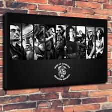 """SOA Scatola stampata foto su tela A1.30""""x20 """"Deep 30 mm TELAIO Figli Anarchia"""