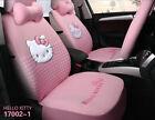 1 Set Luxury Hello Kitty Cute Universal Cartoon Car Seat Cover Cotton Pink 02-1