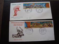 SENEGAL - 2 enveloppes 1er jour 1974/1976 (B5)