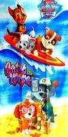 "Nickelodeon Paw Patrol Beach Bath Pool Towel Skye Catch the Wave 28"" x 58 Cotton"