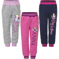 Neu Mädchen Sporthose Hose Jogginghose Frozen pink grau blau 104 110 116 128 #43