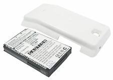 Battery for HTC Hero 100 Extended & White Color Back Cover 2200 mAh Li-ion