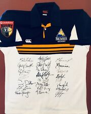 Vintage 2001 Act Brumbies Super 12 Rugby Jersey-signed by all 26 players