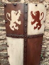 Médiévale Knight Bouclier Artisanal Bataille Armor Réplica 120 cms