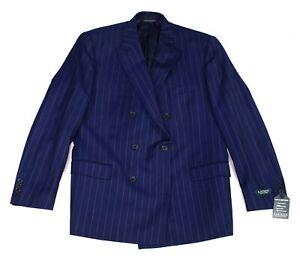 Lauren by Ralph Lauren Mens Blazer Blue Size 42 Classic Fit Wool $450 #085