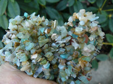 Peruvian Blue Opal chip beads in Green,blue,tan and brown