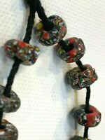 "African Trade Beads  ""End of The Day"" Millefiori Venetian Glass"