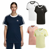 adidas Originals 3 Stripes Tee Damen-Shirt Top Oberteil Kurzarm Sportshirt