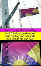 Novelty sunset drinks signal flag boating camping back deck sundowners party
