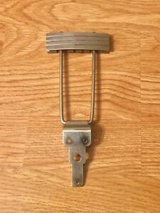 1950's Gibson-Epiphone-Gretsch Vintage Nickel Archtop Guitar Trapeze Tailpiece