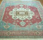 FINE HERIZZ SERAPII HAND KNOTTED WOOL ROMANIAN ORIENTAL RUG CLEANED 11.5 x 13
