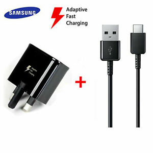 Samsung Galaxy Adaptive Plug Fast charger and TYPE C Cable For S8 Plus S9 PLUS