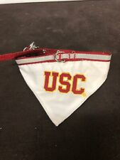 "Pets First Collegiate Pet Accessories USC collar Bandana Maximum 13"" Minimum 9"""