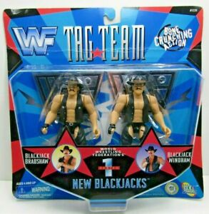Vintage WWF  New Blackjacks Tag Team Wrestling Figure Series 1 WWE 1997 NIB