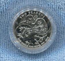 2018 SILVER 1oz Two Dragons 2 Pounds United Kingdom Coin U-607