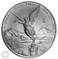 2015 1 oz Mexican Silver Libertad Coin BU (903,000 Mintage)