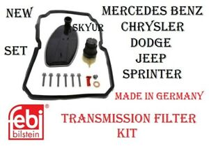 Mercedes Transmission Filter Complete Kit Set C CL CLK CLS E G ML S SL SLK FEBI