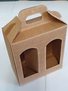 2 Jar tall gift double window presentation box FREE DELIVERY