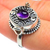 Amethyst 925 Sterling Silver Poison Ring Size 9 Ana Co Jewelry R47285F