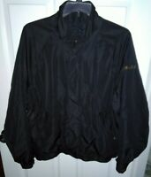 DryJoys FootJoy Men's Large Full Zip Navy Blue Black Golf Wind Jacket msrp($185)