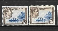 GILBERT & ELLICE ISLANDS 1939  5d  KGVI  PICTORIAL   MLH 2 SHADES  SG 49/a
