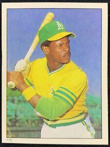 1981 Topps Sticker #115 Rickey Henderson HOF Oakland Athletics