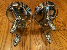 1950 's 1960 's JOMA TRI BAR HOODED SIDE VIEW MIRROR PAIR FORD CHEVY BUICK