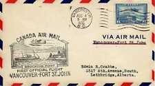 CANADA 1ers vols first flights airmail 82