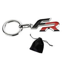 Seat Schlüsselanhänger FR Metall Logo Schriftzug rot schwarz Original Collection