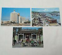 Macao Postcards Set Of 3 Vintage Temple Kun Yum Palace Casino Hotel Lisboa China