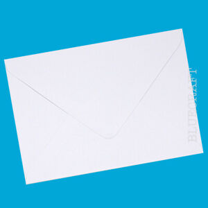 100 x A6 C6 Quality Diamond White 100gsm Gummed Invite Envelopes - 6.37 x 4.48""