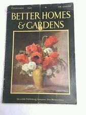 Vintage Better Homes and Gardens Magazine FEBRUARY 1929 RARE eNGLISH MONTLHY