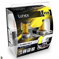 Lunex H4 Halogen Plasma Gold 80% more light Headlight Car Bulbs 2800K Twin