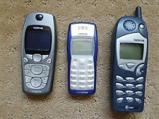 Lot 3 Nokia Phones Model 5165 AT&T 3560 Cingulcar 1100b TracFone Mobile AS-IS