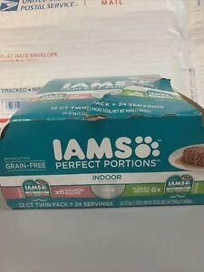 1 Box IAMS Healthy Adult Perfect Portions Recipe Wet Cat Food -2.6oz Ea. BB 9/22