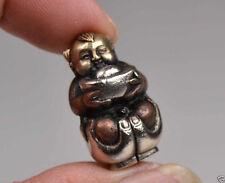"Collectible Deco Copper Silver Handmade ""Money boy"" Lucky Amulet Pendants"