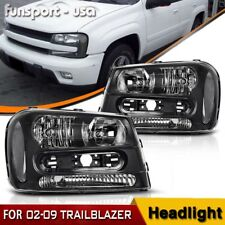 for 02-09 Chevy Trailblazer Headlights Headlamps Assembly Left & Right Pair Set