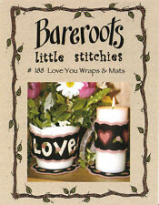 Bareroots Feltro Craft cucito PATTERN - 188 LOVE YOU Wraps & Tappetini