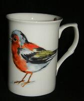 BN Boxed Fine Bone China Garden Birds Mug, Robin Mug, Blackbird, Finch Mug Gift