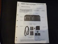 Original Service Manual Kennwood  KDC-C811 CPS81