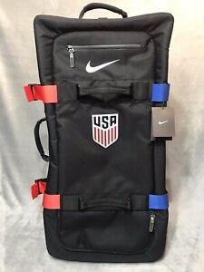 "Nike USA Olympics Luggage Suitcase FIFTYONE49 Travel Team US Black Bag 32"""