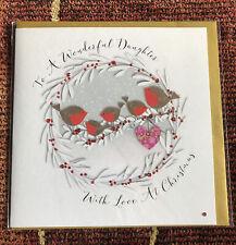 Wendy Jones Blackett To A Wonderful Daughter At Christmas Card ~ 21cm x 21cm