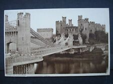 Used Black & White Post Card Conway Castle and Bridge 1944