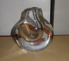 VINTAGE KOSTA BODA GORAN WARFF 47802 CLEAR MODERNIST SIGNED ART GLASS VASE